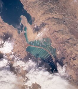 Dead Sea - Salt Evaporation Ponds