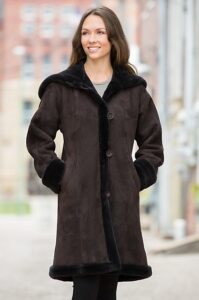 Krista Shearling Sheepskin Coat from www.overland.com
